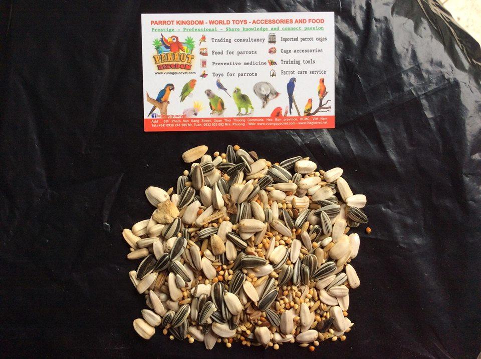 hạt trộn cho vẹt size nhỏ
